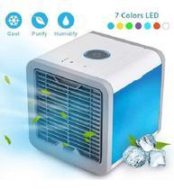 Ar Condicionado Mini Portátil Umidificador e Climatizador com Luz Led Max Midia - Tomate