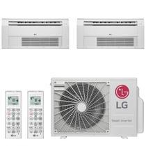 Ar Condicionado Multi Split Cassete Inverter LG 24000 BTUs 2x Evap 12000 Quente Frio A3UW24GFA2  220V -