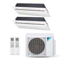 Ar-Condicionado Multi Split Inverter Daikin 18.000 BTUs (2x Evap Cassete 1 Via 12.000) Quente/Frio 220V -