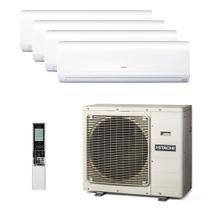 Ar Condicionado Multi Split Inverter Hitachi 29.000 Btus (3x Evap 12.000 + 1x Evap 18.000) Quente e Frio 220v -