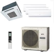 Ar Condicionado Multi Split Inverter Hitachi 29.000 Btus (3x Evap 12.000 + 1x Evap K7 17.000) Quente e Frio 220v -