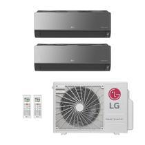 Ar-Condicionado Multi Split Inverter LG 18.000 BTUs (2x Evap HW Artcool 7.000) Quente/Frio 220V -