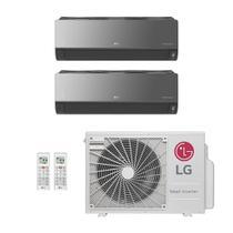 Ar-Condicionado Multi Split Inverter LG 18.000 BTUs (2x Evap HW Artcool 8.500) Quente/Frio 220V -