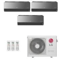 Ar-Condicionado Multi Split Inverter LG 24.000 BTUs (3x Evap HW Artcool 7.000) Quente/Frio 220V -