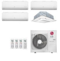 Ar-Condicionado Multi Split Inverter LG 36.000 BTUs 220V     Quente/Frio (3x Evap HW 9.000 + 1x Evap K7 12.000) -