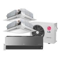 Ar Condicionado Multi Split Inverter LG Artcool 1x7.000 e Cassete 2x9.000 BTU/h Quente e Frio - 220 Volts -