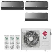 Ar Condicionado Multi Split Inverter LG ARTCOOL 24000 BTUs 3x 9000 Quente Frio A3UW24GFA2  220V -