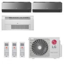 Ar Condicionado Multi Split Inverter LG ARTCOOL 30000 BTUs 2x 9000  1x Cassete 12000 Quente Frio  220V -