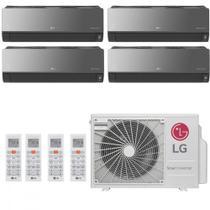 Ar Condicionado Multi Split Inverter LG Artcool 36000 BTUs 2x 9000  1x 12000  1x 7000 Quente Frio A5UW36GFA2  220V -