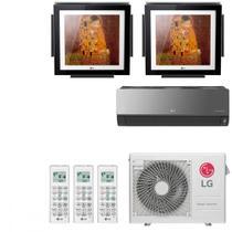 Ar Condicionado Multi Split Inverter LG ARTCOOL Gallery 24000 BTUs 2x 9000  1x 9000 Quente Frio A3UW24GFA2  220V -