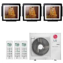 Ar Condicionado Multi Split Inverter LG ARTCOOL Gallery 30000 BTUs 2x 9000  1x 12000 Quente Frio A4UW30GFA2  220V -