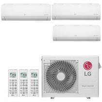 Ar Condicionado Multi Split Inverter LG SMART 24000 BTUs 3x 9000 Quente Frio A3UW24GFA2  220V -