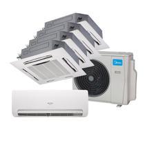 Ar Condicionado Multi Split Inverter Springer Midea 9000 e Cassete 4 Vias 2x9000 e 12000 e 18000 BTU/h Quente e Frio 38MBPA42M5  220 Volts -