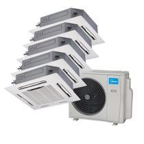 Ar Condicionado Multi Split Inverter Springer Midea Cassete 4 Vias 2x9.000 e 3x12.000 BTU/h Quente e Frio Monofásico 38MBPA42M5  220 Volts -
