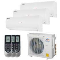 Ar Condicionado Multi Split Inverter Tri Split Gree 30000 BTUs(2x12000+1x9000)Quente e Frio 220V GWHD30ND3GO -
