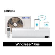 Ar Condicionado Split Hi Wall Samsung Inverter WindFree  Plus 9.000 BTU/h Quente e Frio Monofásico AR09TSEABWKNAZ  220 Volts -