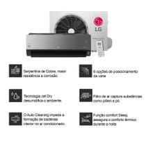 Ar Condicionado Split LG Dual Art Cool Inverter 12000 Btus Quente e Frio 220v - Ar Condicionado Lg