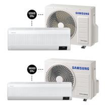 Ar Digital Inverter Wind-Free Plus 12.000 BTU/h + 18.000 BTU/h - Quente e Frio - Samsung