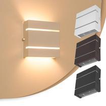 Arandela 2 Focos C/ Frisos E Fachos Externa Parede Muro Slim - Lcg Eletro