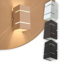 Arandela 2 Focos Com Frisos E Fachos Externa Parede Muro - Lcg Eletro