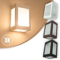 Arandela 5 Vidros Parede Muro Externa E Interna Kit 03 unidades - Lcg Eletro