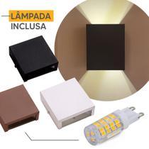 Arandela Ar1110 Interno Externo Aluminio + Lampada Led 5w - Ideallume