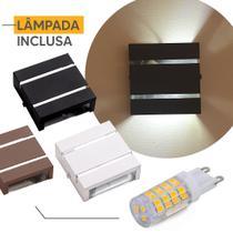 Arandela Ar1112 Interno Externo Aluminio + Lampada Led 5w - IDEALLUME