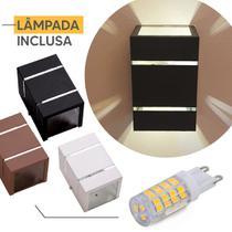 Arandela Ar1510 Interno Externo Aluminio + Lampada Led 5w - IDEALLUME