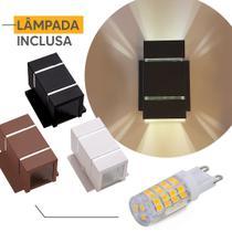 Arandela Ar1512 C/ Base Interno Externo Aluminio + Lampada Led 5w - IDEALLUME
