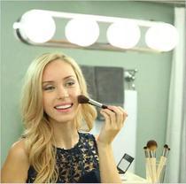 Arandela Camarim Luz Espelho Maquiagem LED 4 Lâmpadas Sem Fio Ventosa - Exclusivo