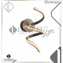Arandela casual light ar1426do worm led 10w 3000k 770lm bivolt 320x140x160mm dourado -