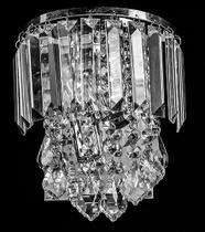Arandela de Cristal Legítimo K9 Transparente - (5049 T) - Dubai