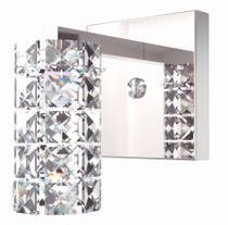 Arandela de Cristal Legitimo Quarto Sala Escada Corredor Lavabo Espelho Painel Cabeceira De Cama Living Hall Entrada AR815 - Arevo Iluminação