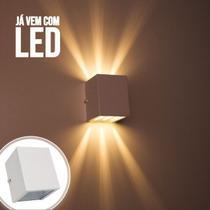 Arandela de efeito 6 fachos branca + led 5w 3000K luminária externa e interna st566 - Starlumen