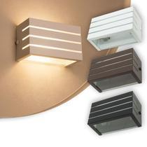 Arandela Frisada Luminária Branca Para Muro Parede Externa G9 - Lcg Eletro
