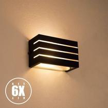 Arandela Frisada Luminária Para Muro Parede Externa G9 Kit 6 unidades - Lcgeletro