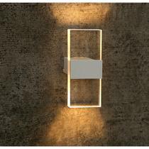 Arandela Interna Acrilico Branco Quarto Corredor Sala Ali18 - Acende a Luz