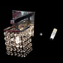 Arandela Parede Lustre Cristal Area Interna  Jp/Arsaga/11 + Lâmpada G9 - Hunter