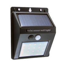 Arandela Recarregável Com Sensor Solar De Parede Externa - America Light