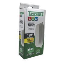 Arandela Tartaruga Force Led 12W 3000K Branca - Taschibra - 15110016-01 -