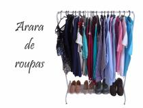 Arara Expositor De Roupas Cabideiro De Chão Branca Aço Promoção Vestuário Loja Apartamento -