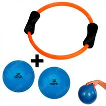 Arco Alaranjado Anel Flexivel + 2 Bolas Over Ball 20 Cm Azul  Liveup -