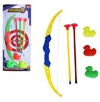 Arco E Flecha Com 3 Ventosas + 3 Patos E Alvo Ultra Mira Na Cartela Wellkids - Wellmix