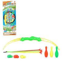 Arco E Flecha Com 3 Ventosas + Patos E 3 Pinos Colors Ultra Mira Na Cartela Wellkids - Wellmix