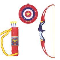 Arco e Flecha Mulher Maravilha Infantil Bel Vermelho/Azul -