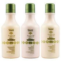 Argan Oil New Advanced Formula Inoar - Shampoo 250ml + Tratamento Antifrizz 250ml + Bálsamo 250ml -