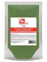 Argila Verde  Adstringente e Remineralizante 1000g Colágeno - Dermare