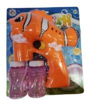 Arma Pistola Toys Lança Bolhas Bolinha Sabão Nemo - Bubble