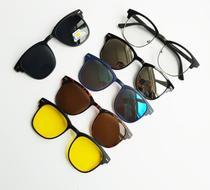 97c7ebf3a Armação de Óculos + 5 Lentes Clip On de Sol e Noturna Polarizadas - Vinkin