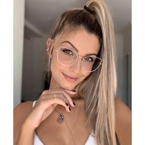 Armação de óculos de grau - Aurora Deux - Branco com dourado - Menina Flor